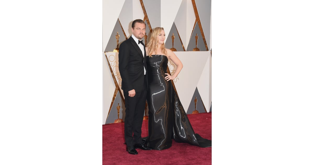 leonardo dicaprio and kate winslet 2016 oscars red