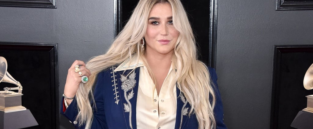 Read the Inspiring Story Behind Kesha's Rose-Embroidered Suit at the Grammys