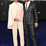 Who else could pull off this check suit like this but Matthew McConaughey? And that Georges Hobeika cape . . .