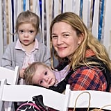 Drew Barrymore and Olive and Frankie Barrymore Kopelman
