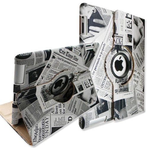 Fintie Newspaper Design Rotating Stand Smart iPad Case ($16)
