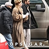 Jennifer Lawrence and Bradley Cooper reunited on their David O. Russell set in Boston sporting retro looks.