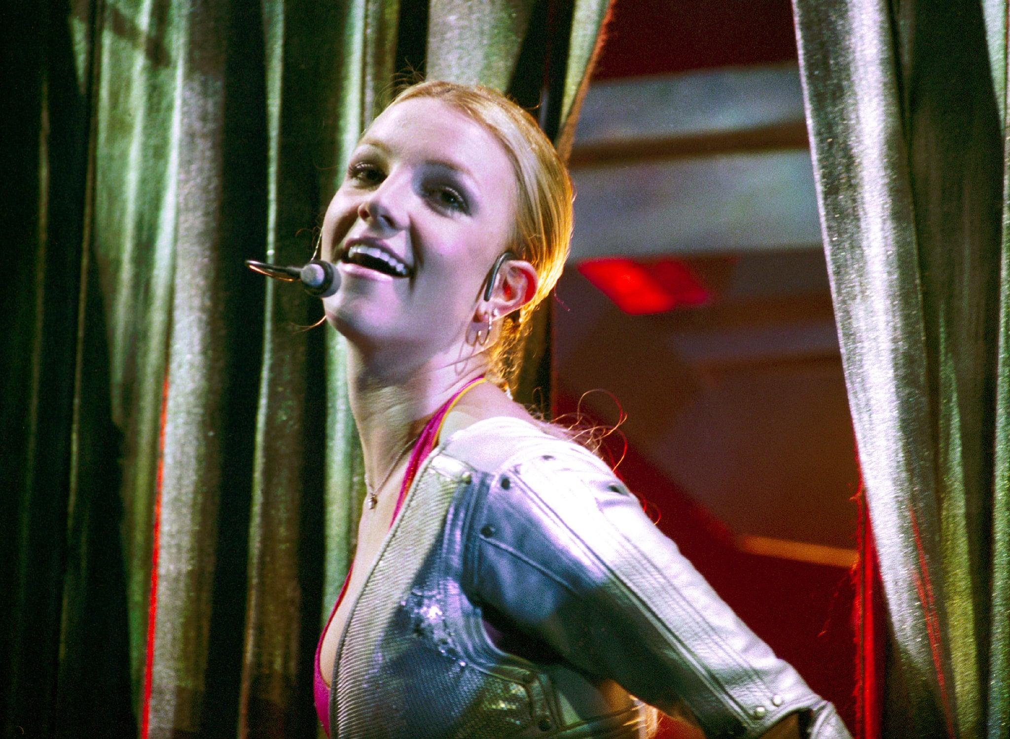 Britney Spears performs on stage at Gelredome, Arnhem, Netherlands, 4th November 2000. (Photo by Rob Verhorst/Redferns)