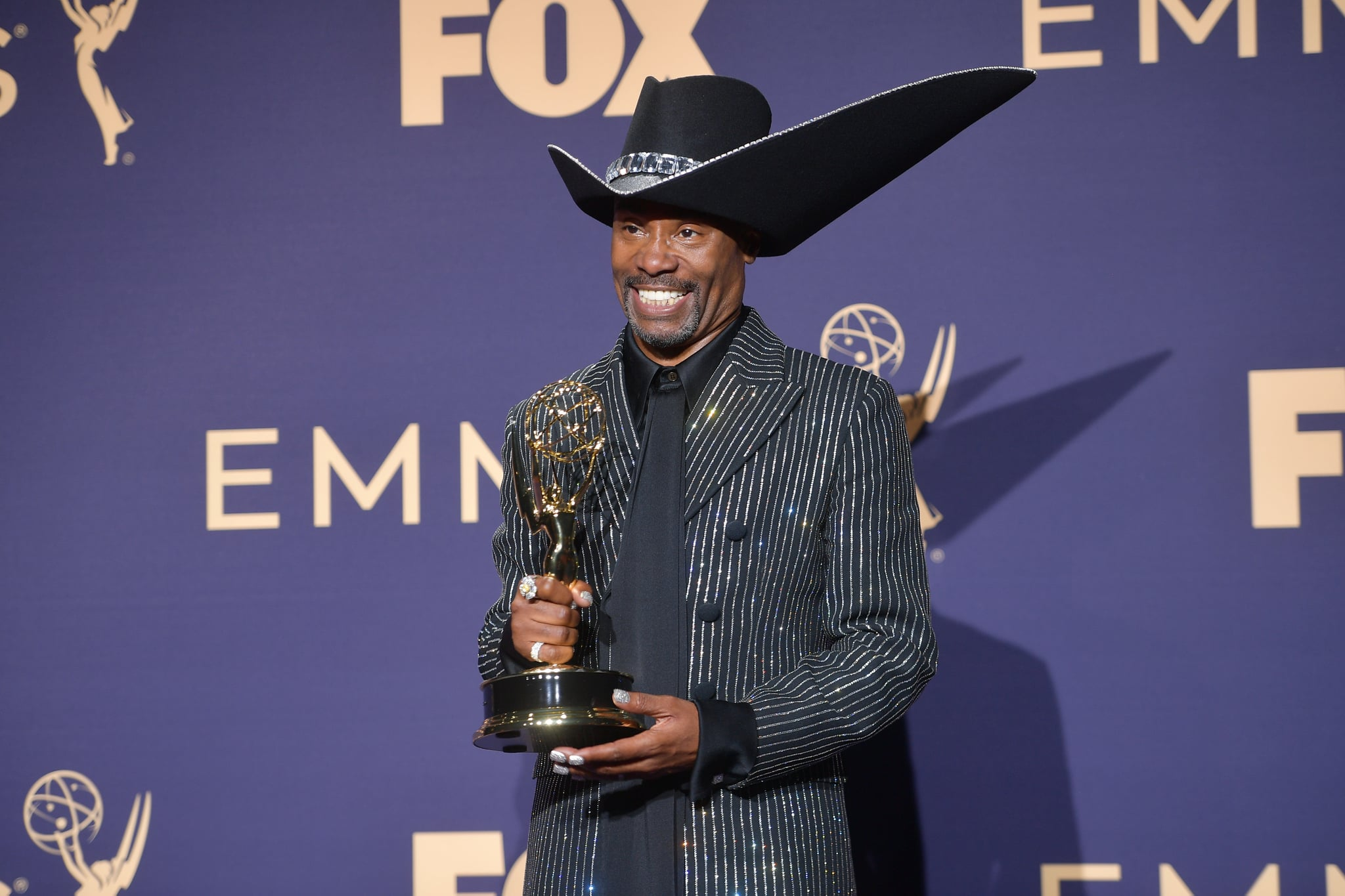 LOS ANGELES, CALIFORNIA - SEPTEMBER 22: Billy Porter poses with award for Outstanding Lead Actor in a Drama Series in the press room during the 71st Emmy Awards at Microsoft Theater on September 22, 2019 in Los Angeles, California. (Photo by Matt Winkelmeyer/FilmMagic)