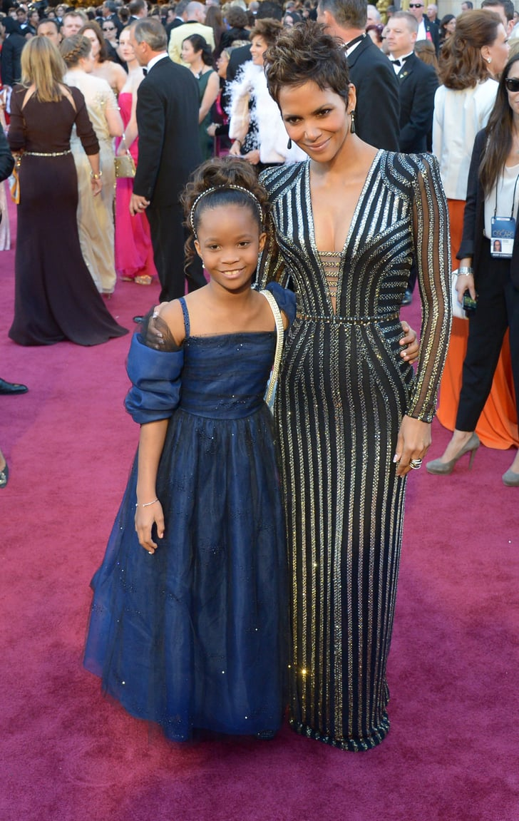 Halle Berry and Quvenzhané Wallis on the red carpet at the Oscars 2013.