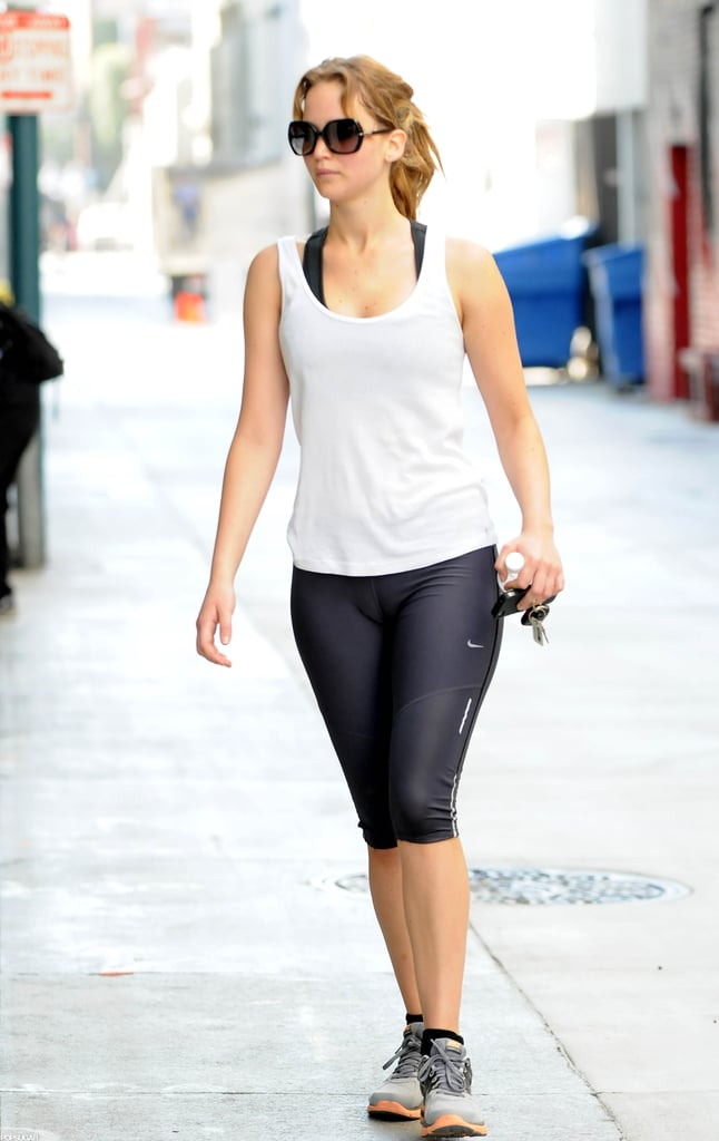jennifer lawrence worked out at a gym in california