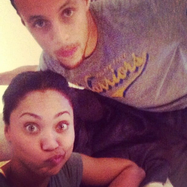 cute pictures of stephen curry and his wife  ayesha