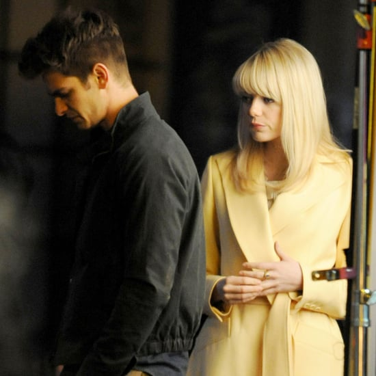 Emma Stone and Andrew Garfield on Spider-Man 2 Set