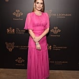 Kitty stunned in a fuchsia dress when she attended a gala in November 2017.