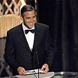George Clooney made a debonair appearance.
