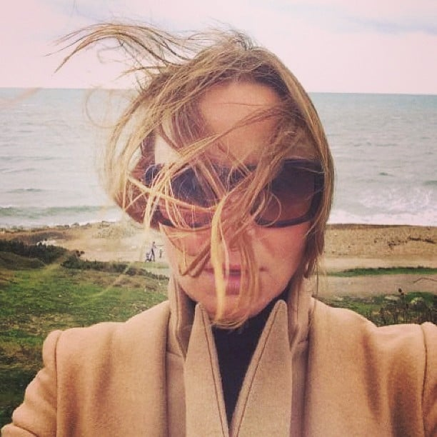 Stella McCartney snapped a selfie during a blustery day. Source: Instagram user stellamccartney