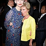 With Tilda Swinton