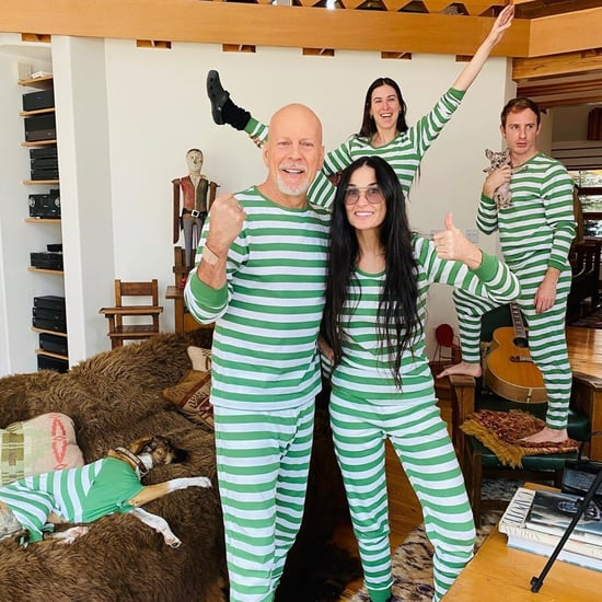 Demi Moore and Bruce Willis Matching Green Leveret Pajamas
