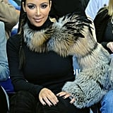 Kim Kardashian modeled a new fur sleeve this week. Do you think it's freaky or fabulous?