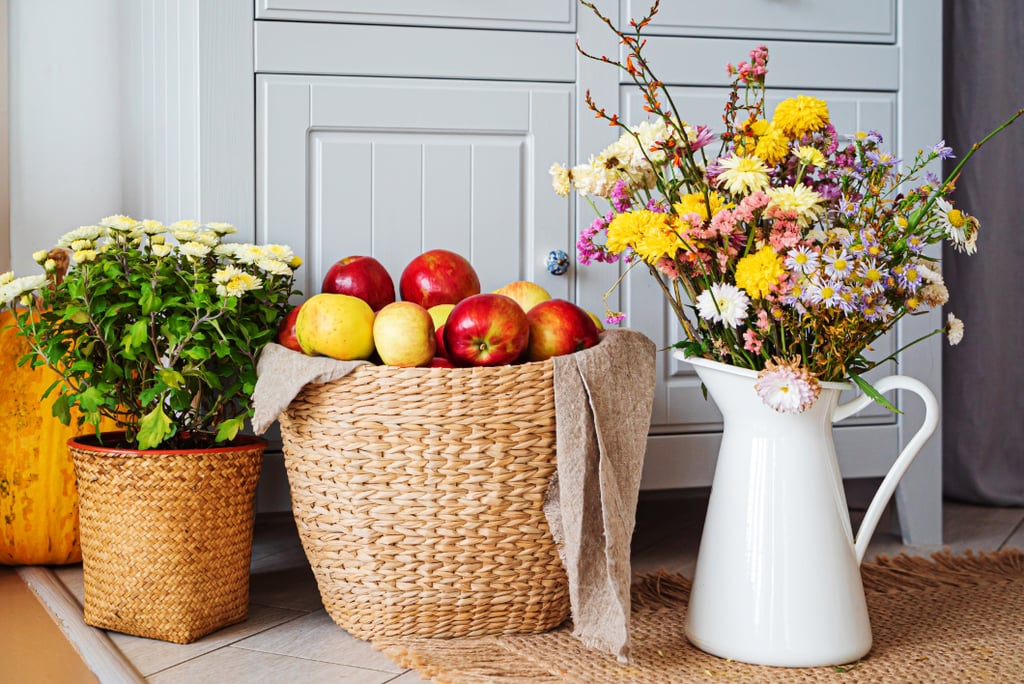 Fall Flowers + Nontraditional Vase