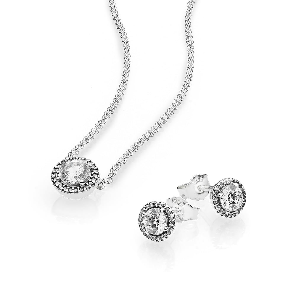 Classic Elegance Earring Studs, $89, and Classic Elegance Necklace, $89.