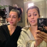 Whoa, We Almost Didn t Recognize Kim and Kourtney With This  Grandma Face Mask