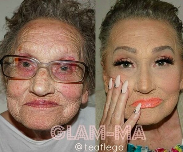 Grandma Does The Best Contouring
