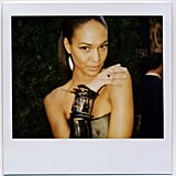 Joan Smalls with an armload of fabulousness.