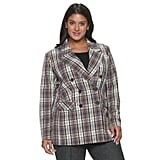 Apt. 9 x Cara Santana Plus Size Menswear Plaid Blazer