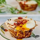 Egg and Bacon Parsnip Noodle Nests