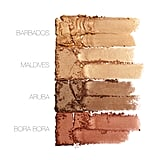 Huda Beauty Bronze Sands 3D Highlighter Palette Swatches