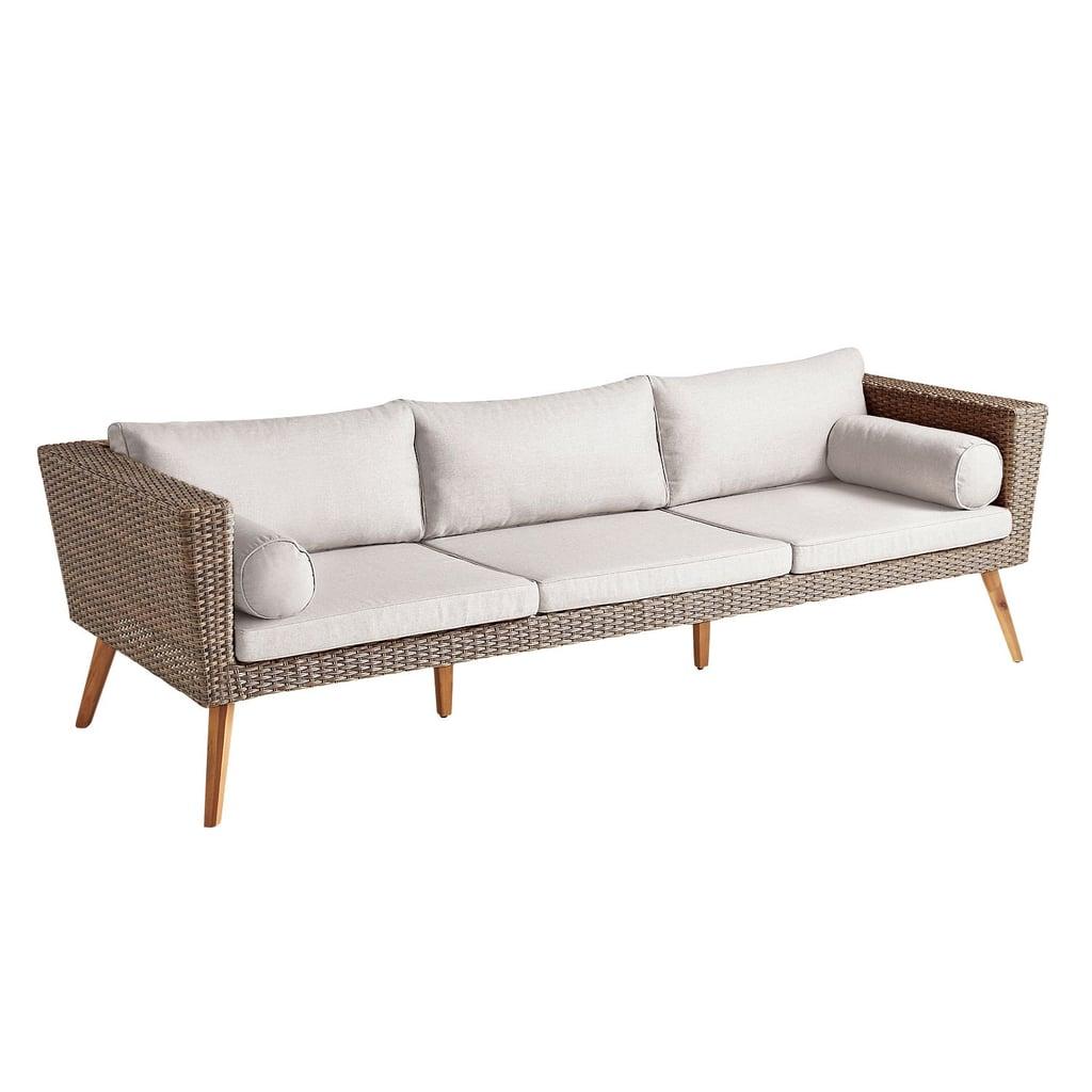 Bari Chateau Latte Sofa With Cushions
