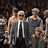 Karl Lagerfeld and Hudson Kroenig