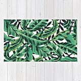 Tropical Glam Banana Leaf Print Rug ($28)