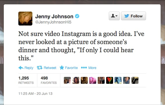 Comedian @JennyJohnsonHi5 doesn't want to listen to your food.