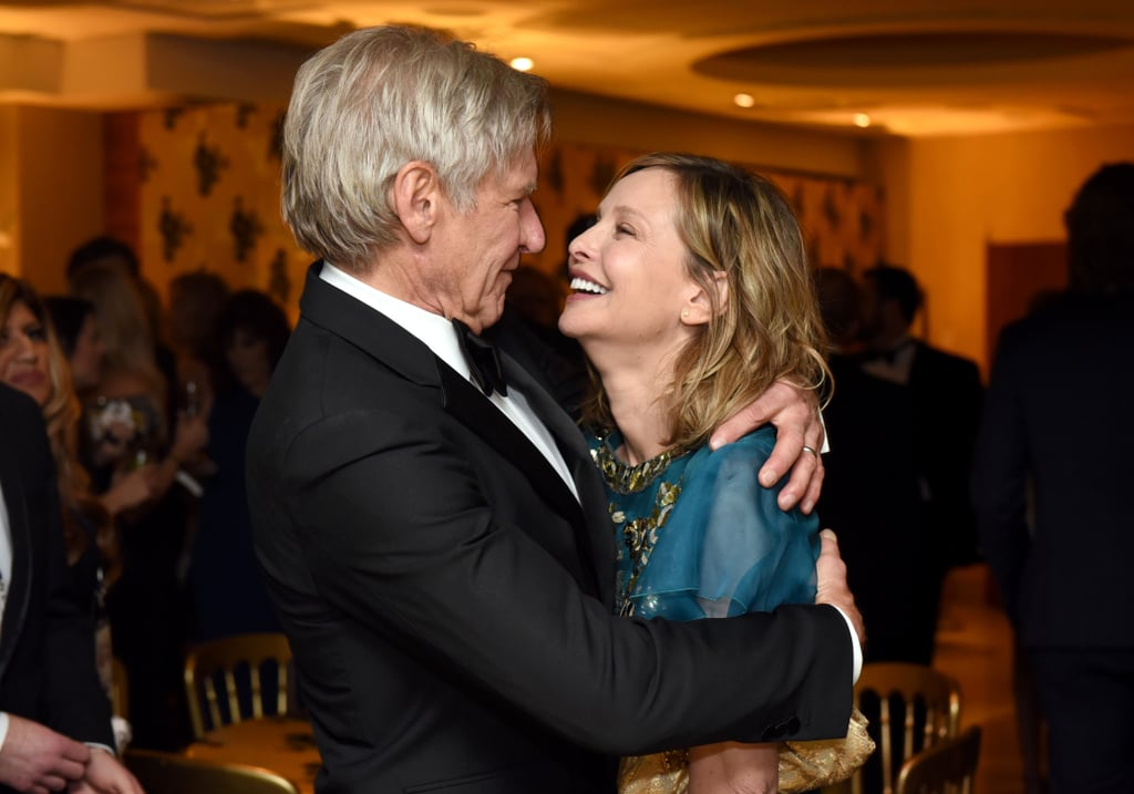 Harrison Ford is a notoriously private actor, but when it comes to his relationship with Calista Flockhart, he's actually kind of a softie. After meeting at the 2002 Golden Globes, the two started dating, and Harrison became a father figure for her adopted son, Liam. Like a true romantic, the Star Wars actor popped the question over Valentine's Day weekend in 2009, and they tied the knot a year later in Santa Fe, NM. While they don't usually indulge the press about their romance, they have shared a number of sweet moments together on the red carpet. See some of their best appearances below.       Related:                                                                                                           14 Photos That Will Make You Appreciate the Beauty of Young Harrison Ford