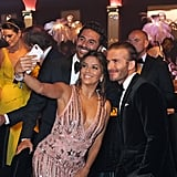 Eva Longoria, David Beckham, and Jose Antonio Baston all posed for a selfie on the red carpet in 2017.