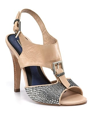 Rebecca Minkoff mixes vintage silhouette with functional details in this cool High-Heeled Sandal ($295).