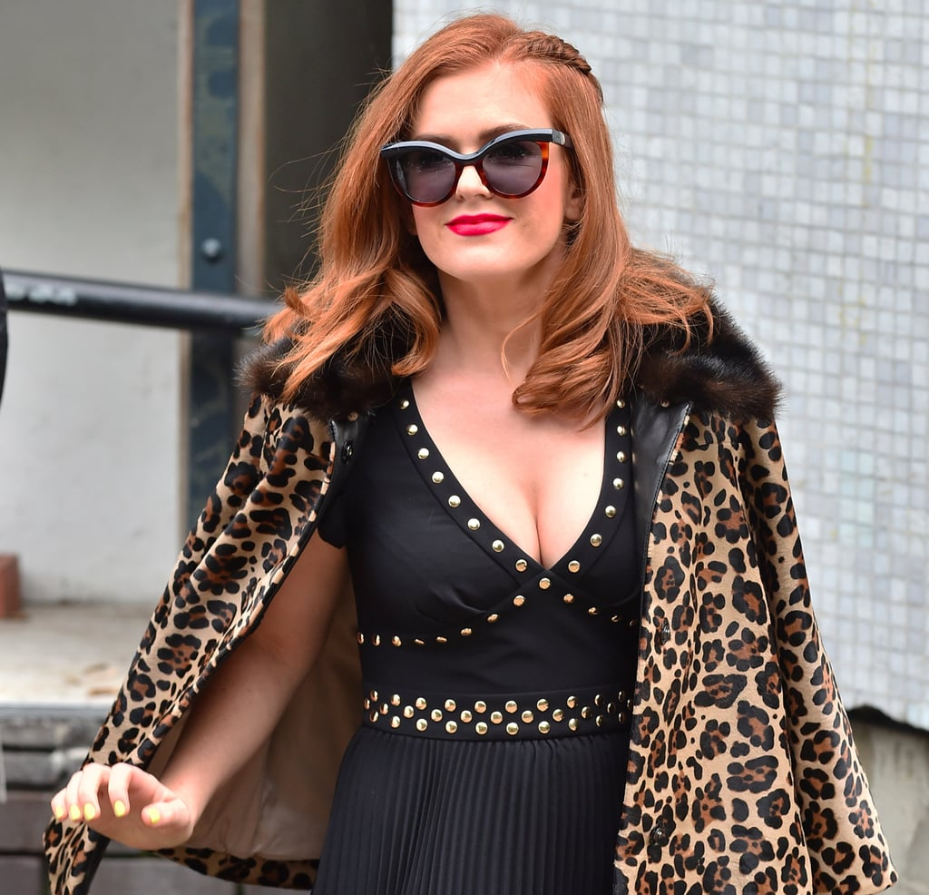 Isla Fisher Leopard Print Jacket