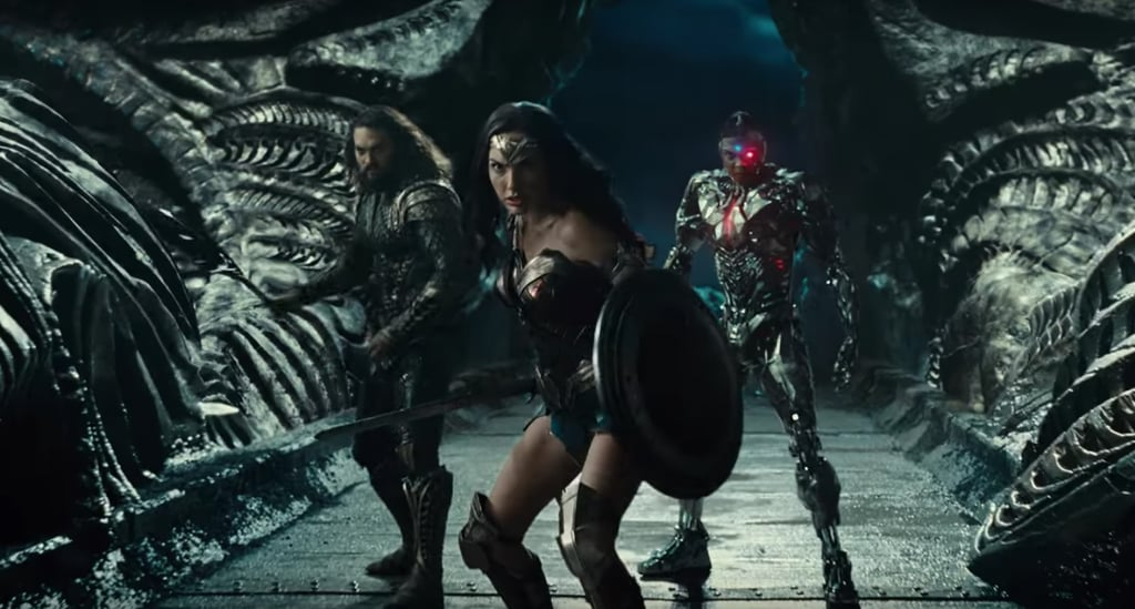 Jason Momoa As Aquaman In Justice League Pictures Popsugar