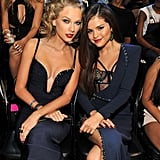 Taylor Swift and Selena Gomez at the 2013 VMAs