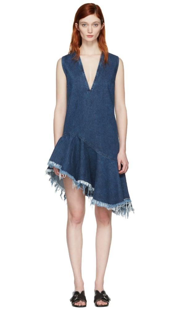 fb9c288f431 Marques Almeida Blue Denim V-Neck Dress