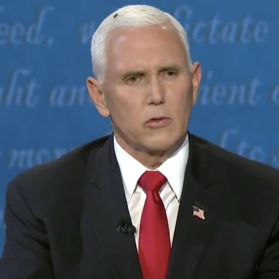 Fly Lands on Mike Pence's Head Vice Presidential Debate