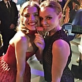 Natalia Vodianova was all smiles while posing with British designer Stella McCartney.