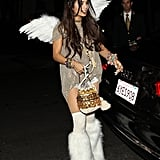 In 2013, Vanessa Hudgens outfitted a unique play on an angel for a costume party in Beverly Hills.