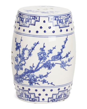 Chinoserie Ceramic Garden Stool ($50)