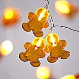Gingerbread Man Cookie Christmas String Lights