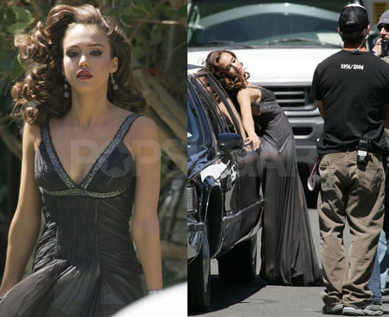 Jessica Alba All Over Limo & Cash