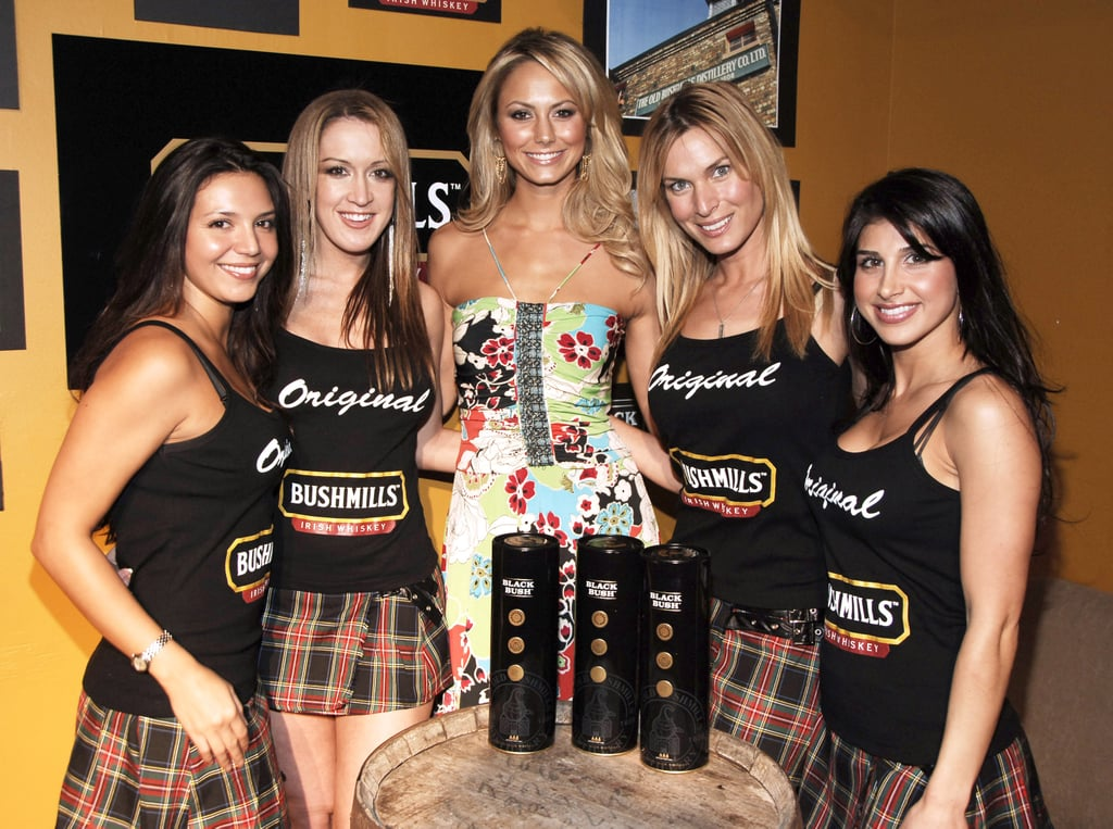 Stacy Keibler hosted the Bushmills Legends Pub St. Patrick's Day Eve event in NYC in March 2006.