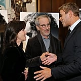 Kellan Lutz talked to Sally Field and Steven Spielberg in NYC.