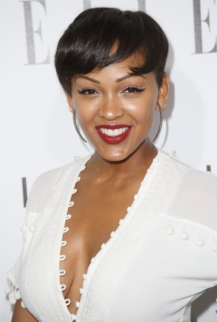 meagan good hair style meagan recently swapped lengthy locks for a 7430 | Meagan Good recently swapped her lengthy locks sexy pixie