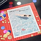 Pool-Themed Save the Date