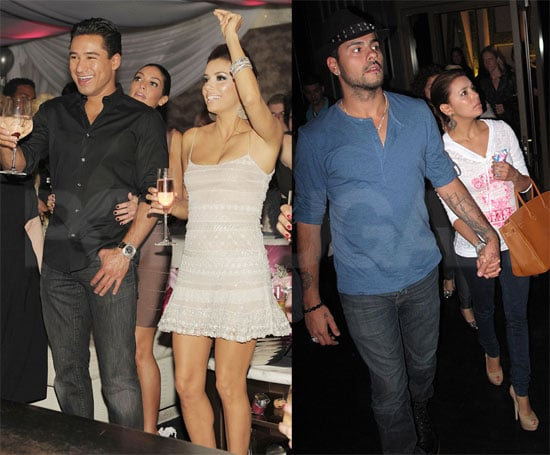 Eva Longoria was joined by her good friend Mario Lopez at her own Las Vegas nightclub, Beso and Eve, to continue a string of birthday parties on Friday. She happily blew out the candles on top of a five-foot-tall birthday cake before heading to the VIP area of the club, where she sipped cocktails and met up with her boyfriend, Eduardo Cruz. The following day, Eva and Eduardo held hands as they arrived at the Sugar Factory Brasserie, where they enjoyed a casual and romantic meal. The Vegas trip wrapped up a seven-day celebration that started when Eva was the guest of honor at a star-studded '20s-themed bash in LA last weekend. The fun continued on to her next destination, Disneyland, where she was surprised with a showering of affection from Eduardo.