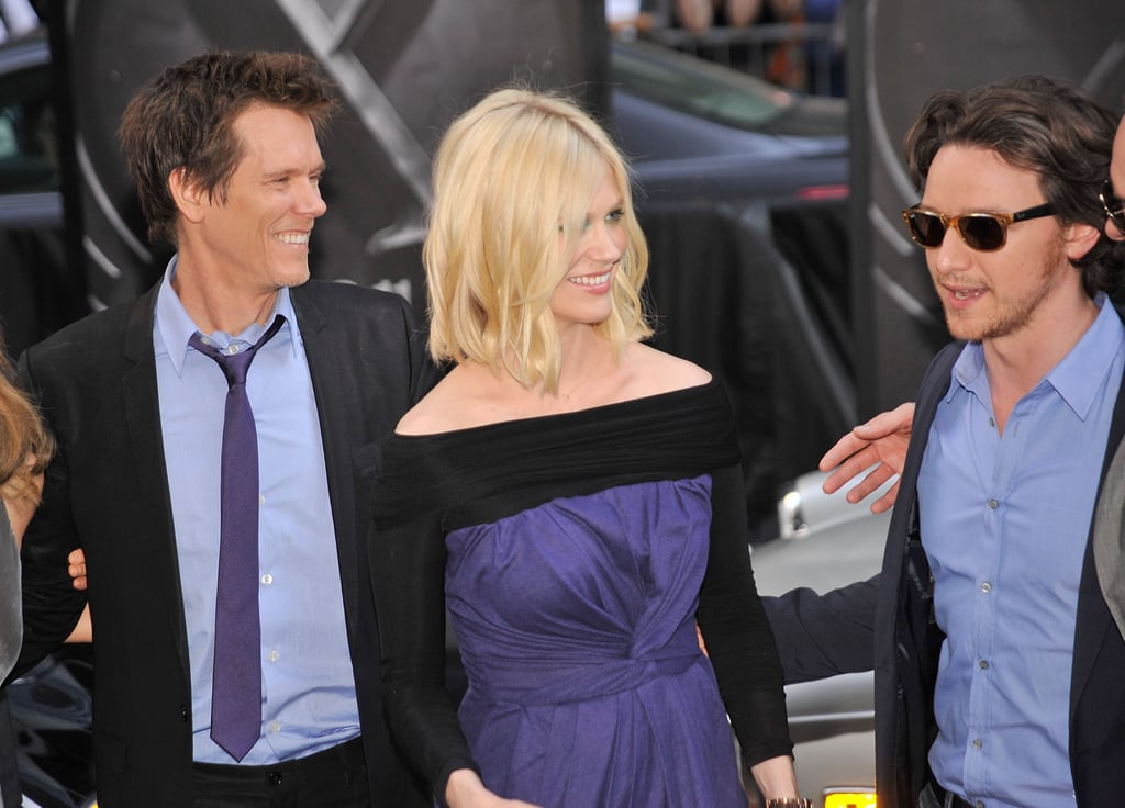 Michael Fassbender, James McAvoy, and Pregnant January Jones Dress Up to Show Off X-Men
