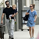 Benjamin Millepied carried Aleph through Downtown LA.